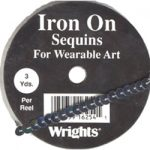 "1/4"" Wright's Iron On Sequin Trim - 3 Colors-0"