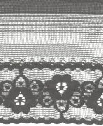 1/2'' Black Lace Trim with 1 3/4'' Selvage-0