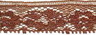 5/8'' Cocoa Brown Lace Trim -0