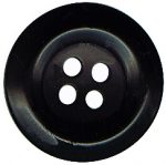 "3/4"" Black 4 Hole Button-0"