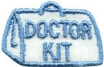 1 1/2'' by 1'' Iron On Doctor Kit Applique-0