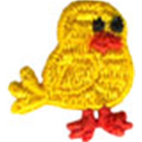 """1 1/8"""" by 1"""" Bird Applique - Bright Yellow animal appliqués/patches, appliques, Beaded Butterfly Appliques, beaded sequin appliques, bear patches, cheep trims appliques, christmas patches, Craft Stores, easter egg appliques, emblem patches, etsy venice lace appliqués, Eyelet lace appliqués, hobby lobby, Iron on appliques, Iron on appliqués or patches, iron on butterfly patches, Iron on fish patches, iron on letters, iron on numbers, iron on patches, iron on satin patches, iron on words, jo ann fabric stores, JOANN Fabric, lace iron on patches, lace patches for jeans, metallic appliques, nautical patches, netting appliqués, novelty patches, organza appliqués, Patches, Sequin butterfly appliques, sew on appliqués, sew on patches, shoe laces, sport applique, sports patches, Venice Lace Appliques, wedding lace appliques.beaded lace appliques.cheeptrims patches, zippers"""