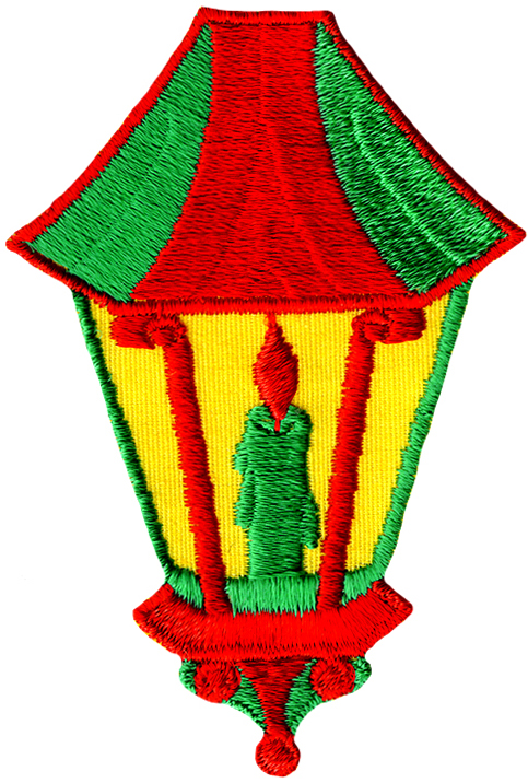 "3"" by 3 5/8"" Christmas Lantern Applique. Christmas Applique, Christmas Lantern Applique"