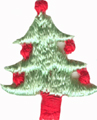 """1"""" by 7/8"""" Light Green Christmas Tree Appliques"""