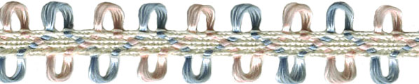 """3/8"""" Pastel Braid with Picots"""