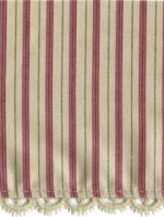 3 7/8'' Beige Lace Edge with Burgundy and Olive Stripe3 7/8'' Beige Lace Edge with Burgundy and Olive Stripe