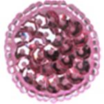 "7/8"" - 2.2 cm - Beaded & Sequin Pink Circle Applique-0"