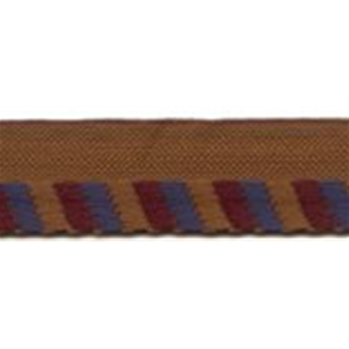 "3/8"" Edge Trim Rust/Maroon/Country Blue"