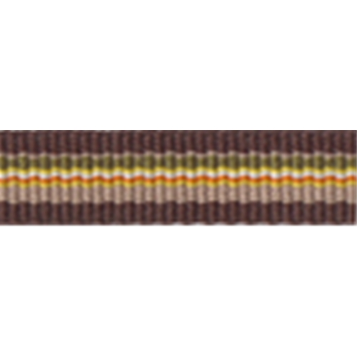 "3/8"" -  Striped Strapping - Brown/ Beige/ Green/ Yellow"