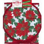 Christmas 3 Piece Scarf & Doily Set - WhiteChristmas 3 Piece Scarf & Doily Set - White