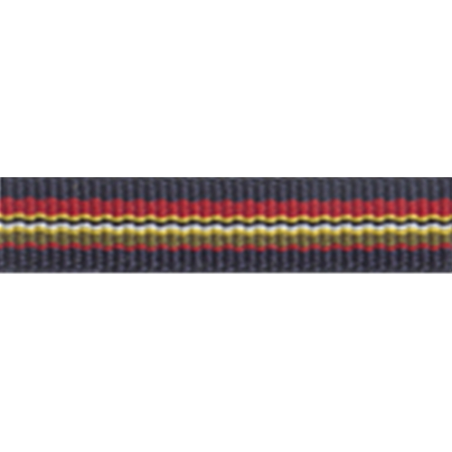 """3/8"""" - Striped Strapping - Navy/ Red/ Green/ Yellow"""