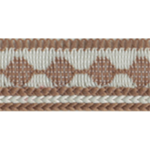 "1/4"" Edging with Lip - Brown/Ivory edging, piping"