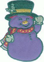 3 3/4'' by 2 3/4'' Iron On Snowman Applique3 3/4'' by 2 3/4'' Iron On Snowman Applique iron on applique, snowman patch