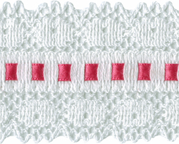 "2"" White Cotton Lace Trim with 1/4"" Ribbon - 3 Colors cotton lace"