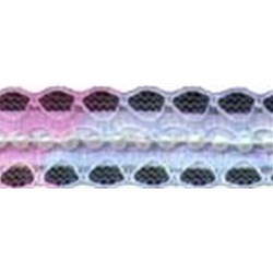 "3/4"" Multi Blue/Pink Beading Lace Trim with Pearls. beaded lace"