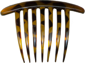 "Brown 4 1/4"" wide by 3"" high Hair Combs"