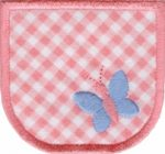 2 3/4'' by 2 1/2'' Pocket With Butterfly.2 3/4'' by 2 1/2'' Pocket With Butterfly. Butterfly