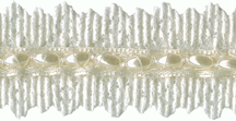 """1"""" Lace with Pearls - Cream, White"""