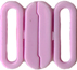 "3/4"" by 5/8"" - 2 piece plastic clasp - 16 Colors clasp"