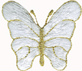 White - 1 3/8'' by 1 1/4'' Iron On Butterfly AppliquesWhite - 1 3/8'' by 1 1/4'' Iron On Butterfly Appliques Butterfly Appliques.