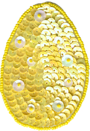 """3 5/8"""" by 2 1/2"""" Beaded & Sequin Egg Novelty Applique with Pin Back - 5 Colors animal appliqués, animal patches, appliques, Beaded Butterfly Appliques, beaded lace appliques, beaded sequin appliques, bear patches, cheep trims appliques, cheeptrims patches, children Clothing, children patches, christmas patches, craft patches, Craft Stores, Easter Egg Applique, easter egg appliques, Easter Egg Pen, emblem patches, English netting appliqués, etsy venice lace appliqués, Eyelet lace appliqués, hobby lobby, Iron on appliques, iron on butterfly patches, Iron on fish patches, iron on letters, iron on numbers, iron on patches, iron on satin patches, iron on words, jo ann fabric stores, JOANN Fabric, lace patches for jeans, metallic appliques, nautical patches, netting appliqués, novelty patches, organza appliqués, organza beaded/sequin appliqués, Patches, Sequin butterfly appliques, sew on appliqués, sew on patches, shoe laces, sport applique, sports patches, Venice Lace Appliques, wedding lace appliques, women clothing, zippers"""