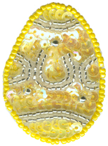 "2"" by 1 3/8"" Yellow/Silver Beaded & Sequin Egg Applique animal appliqués, animal patches, appliques, Beaded Butterfly Appliques, beaded lace appliques, beaded sequin appliques, bear patches, cheep trims appliques, cheeptrims patches, children Clothing, children patches, christmas patches, craft patches, Craft Stores, easter egg appliques, emblem patches, English netting appliqués, etsy venice lace appliqués, Eyelet lace appliqués, hobby lobby, Iron on appliques, iron on butterfly patches, Iron on fish patches, iron on letters, iron on numbers, iron on patches, iron on satin patches, iron on words, jo ann fabric stores, JOANN Fabric, lace patches for jeans, metallic appliques, nautical patches, netting appliqués, novelty patches, organza appliqués, organza beaded/sequin appliqués, Patches, Sequin butterfly appliques, sew on appliqués, sew on patches, shoe laces, sport applique, sports patches, Venice Lace Appliques, wedding lace appliques, women clothing, zippers"