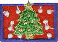 1'' by 1 3/4'' Iron On Christmas Tree Patch Applique1'' by 1 3/4'' Iron On Christmas Tree Patch Applique