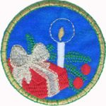 2 1/2'' - 6.4 cm -  Iron On Candle and Present Applique2 1/2'' - 6.4 cm -  Iron On Candle and Present Applique