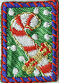 1'' by 3/4'' Iron On Candy Cane Patch Applique1'' by 3/4'' Iron On Candy Cane Patch Applique