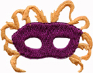 2'' by 1 7/8'' Iron On Mask Applique2'' by 1 7/8'' Iron On Mask Applique