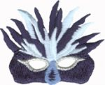 2 3/8'' by 2'' Iron On Mardi Gras Mask Applique-0