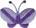 Lavender - Butterfly Applique 1 1/4'' by 5/8
