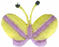 Yellow - Butterfly Applique 1 1/4'' by 5/8