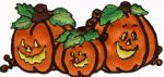 3 3/4'' by 1 3/4'' Iron On Pumpkins Applique3 3/4'' by 1 3/4'' Iron On Pumpkins Applique