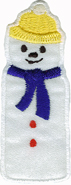 2 1/2'' by 1'' Iron On Snowman Applique2 1/2'' by 1'' Iron On Snowman Applique