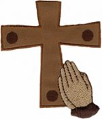 2 3/8'' by 2 3/4'' Iron On Cross Applique2 3/8'' by 2 3/4'' Iron On Cross Applique