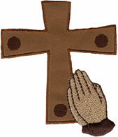 2 3/8'' by 2 3/4'' Iron On Cross Applique