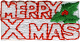 1 3/4'' by 3/4'' Iron On Merry Xmas Applique1 3/4'' by 3/4'' Iron On Merry Xmas Applique
