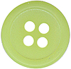 7/16'' - 4 Hole Button - Limeade7/16'' - 4 Hole Button - Limeade 4 hole button