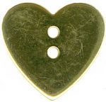 7/8'' - Gold 2 Hole Metal Heart Button7/8'' - Gold 2 Hole Metal Heart Button 2 hole metal button