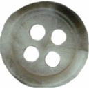 3/8''- Grey 4 Hole Button - Pack of 4 Buttons.3/8''- Grey 4 Hole Button - Pack of 4 Buttons. 4 hole button