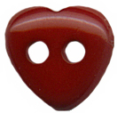 7/16'' - Dark Red Heart 2 Hole Button.7/16'' - Dark Red Heart 2 Hole Button. 2 hole button
