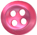 3/8'' - 4 Hole - Fuchsia Pink - Button3/8'' - 4 Hole - Fuchsia Pink - Button 4 hole button