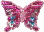 2'' by 2 5/8'' - Beaded Sequined Butterfly Applique with Pin on Back - 3 Colors2'' by 2 5/8'' - Beaded Sequined Butterfly Applique with Pin on Back - 3 Colors butterfly applique