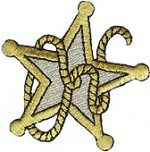 2 3/8'' by 2 1/4'' Iron On Star Applique - Gold, Silver2 3/8'' by 2 1/4'' Iron On Star Applique - Gold, Silver star applique