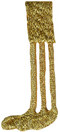 3/4'' by 1 3/4'' Iron On Metallic Gold Applique3/4'' by 1 3/4'' Iron On Metallic Gold Applique