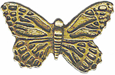 7/8'' by 1/2'' Metal Shank Butterfly Button-0