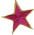 1 3/4'' Iron On Star with Gold Edge Applique - 11 Colors1 3/4'' Iron On Star with Gold Edge Applique - 11 Colors star applique