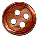 3/8'' 4 Hole Button - Copper Rose Pearl, Pumpkin Pearl3/8'' 4 Hole Button - Copper Rose Pearl, Pumpkin Pearl 4 hole button, 4 hole buttons, clothing buttons