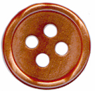 7/16'' - 4 Hole Button - Copper Rose Pearl, Pumpkin Pearl7/16'' - 4 Hole Button - Copper Rose Pearl, Pumpkin Pearl 4 hole button
